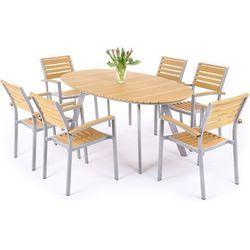 Meble ogrodowe HOME&GARDEN 411508 Lorenzo aluminiowe Srebrno-Teak