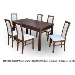 Zestaw Ares 4 Stół 80x150(+40) 6 krzeseł A42