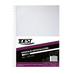 Koszulki na dokumenty Idest, krystaliczne, format A5, opakowanie 100 sztuk