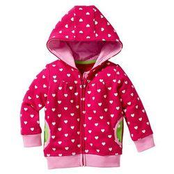 Bluza rozpinana niemowlęca, bawełna ekologiczna bonprix ciemnoróżowy z nadrukiem
