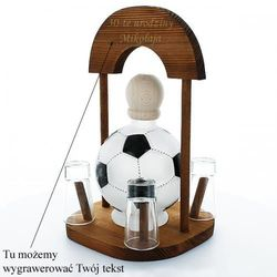 Zestaw: karafka Piłka z kieliszkami na stojaku z możliwością graweru...