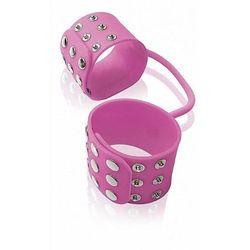 Kajdanki silikonowe, różowy