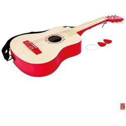 HAPE Czerwona gitara akustyczna