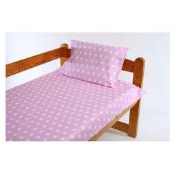Pościel 2-el do łóżeczka 90x120 cm - Białe Kropki na Różowym