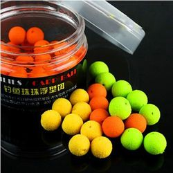50pcs/box Boilies Carp Bait Floating Fishing Lure 8mm Corn Flavor Artificial Baits Carp Fishing Accessories Fish Beads Feeder