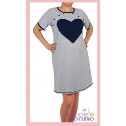 Koszula nocna ciążowa i do karmienia - Granatowe Serce