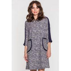 a420c914eb suknie sukienki trinity sm sukienka swing w szarym melanzu ...