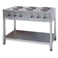6-płytowa kuchnia elektryczna   4x2,6kW+2x2,0kW