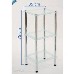 Regał łazienkowy CENTER PLUS P.KS3 3 szklane półki