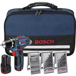 Wiertarko-wkrętarka akumulatorowa Bosch GSR 10,8-2-LI, 10.8 V / 1.5 Ah, Li-Ion, Szybkozaciskowy, 2 akumulatory, akcesoria, torba, 0.95 kg