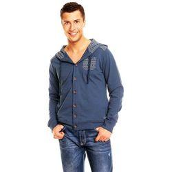 Niebieska bluza na guziki Sublevel