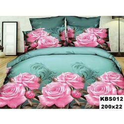 Komplet Pościeli 200x220 Pościel 4cz Róże 3D 012 - KBS012 ||012