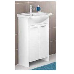 DEFTRANS PRAXIS Zestaw łazienkowy szafka 2D0S D50 bez cokołu + umywalka, wenge luiziana 168-D-05002+1120