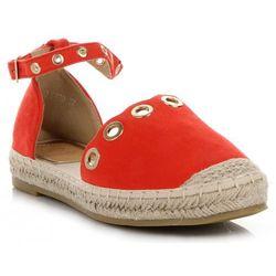 edb804607543a Designerskie Espadryle Damskie renomowanej marki Lady Glory Czerwone  (kolory)
