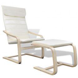 Kremowy regulowany fotel bujany z podnóżkiem Zapisz się do naszego Newslettera i odbierz voucher 20 PLN na zakupy w VidaXL!