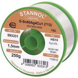 Cyna lutownicza bez ołowiu Stannol 535802 Sn99Cu1 1.5 mm 250 g