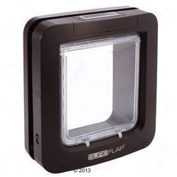 SureFlap duże drzwiczki z mikrochipem, brązowe - Wymiary: 26,2 x 28,1 cm, brązowy