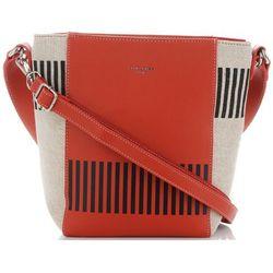 a635992c70626 Modne Torebki Damskie Designerska Listonoszka renomowanej marki David Jones  Multikolorowe Pomarańczowe (kolory)