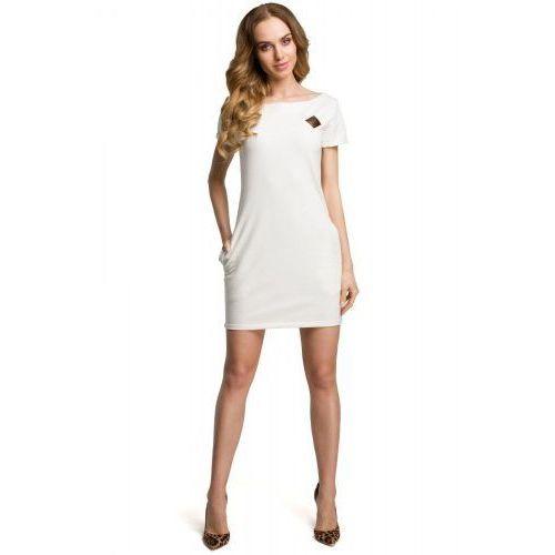 c88085ab50 M374 Sukienka ecru - porównaj zanim kupisz