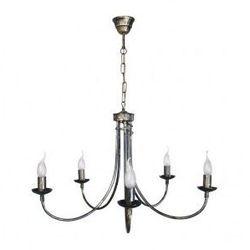 Lampa wisząca żyrandol stylowy TEMPLE 5xE14/40W