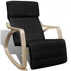 Czarny regulowany fotel bujany Zapisz się do naszego Newslettera i odbierz voucher 20 PLN na zakupy w VidaXL!