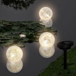 vidaXL Pływające Lampy Solarne LED do Basenu/Oczka Wodnego (3szt) Darmowa wysyłka i zwroty