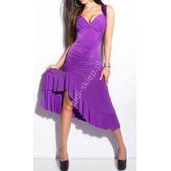 Fioletowa sukienka w stylu latino | fioletowe sukienki