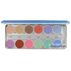 KRYOLAN - AQUACOLOR - Paleta 12 farb wodnych do malowania twarzy - ART. 1104 - SN