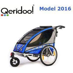 Przyczepka rowerowa Qeridoo Sportex1 niebieska