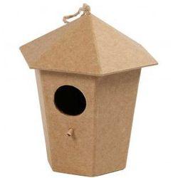 Domek dla ptaków z papieu mache duży - wzór V