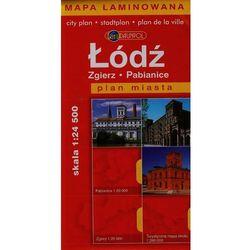 Łódź, Zgierz, Pabianice. Plan miasta 1:24 500. Mapa laminowana (opr. broszurowa)