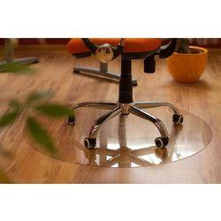 Mata ochronna pod fotel na kółkach - okrągła - średnica 90cm, krystaliczna
