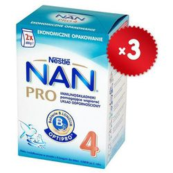 Zestaw 3x NESTLE NAN PRO 4 800g (2x400g) Mleko następne z B.Lactis dla