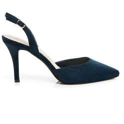 Czółenka na szpilce Francesca - odcienie niebieskiego