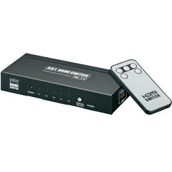 Rozdzielacz splitter HDMI, Goobay, 5 x IN => 1 x OUT, HDCP, obraz 3D, pilot