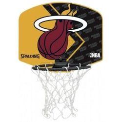Mini tablica SPALDING Miami Heat z piłką