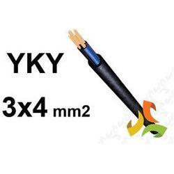 KABEL YKY 3x4mm2 0,6/1kV PRZEWÓD ZIEMNY MIEDZIANY