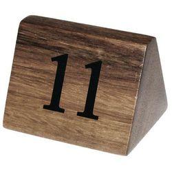 Drewniane numerki na stoły   11-20   35x35x(H)55mm