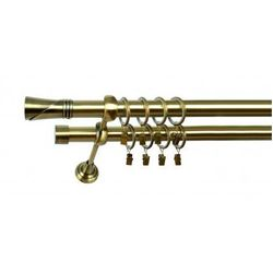 Karnisz Podwójny MARTA Ø19/19mm Loca : dlugosc karniszy - 280 cm, Rodzaj - Metalowy, Kolor Karnisza - Chrom, Mocowanie - Ścienne