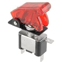 New Red 12V 20A Cover LED Light SPST Toggle Switch Control On/Off For Car Motor Free shipping