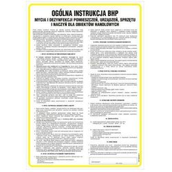 Instrukcja BHP mycia i denzynfekcji pomieszczeń, urządzeń, sprzętu i naczyń dla obiektów handlowych