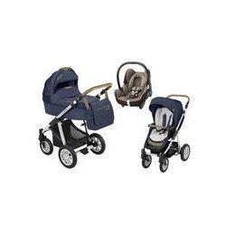 Wózek wielofunkcyjny 3w1 Lupo Dotty Baby Design + Cabrio Fix GRATIS (Denim granatowy)