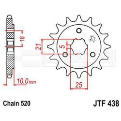 Zębatka przednia JT F438-15, 15Z, rozmiar 520 2200396 Suzuki DR 800