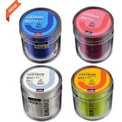 Free Shipping 500M Justron Brand Super Strong Multifilament Quality Color Nylon Fishing Line 8 10 15 20 30 40 60LB
