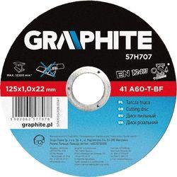 Tarcza do cięcia GRAPHITE 57H707 125 x 1.0 x 22.2 mm do metalu