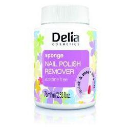 Delia Cosmetics Zmywacz do paznokci z gšbkš bez acetonu 75ml