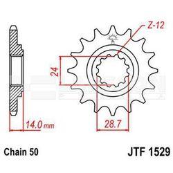 Zębatka przednia JT 50-35032-16, 16Z, rozmiar 530 2200579 Kawasaki ZRX 1200