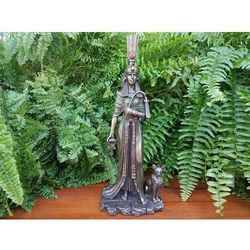 Rzezby I Figurki Dekoracyjne Figurka Kot Egipski Kolor Stare Zloto