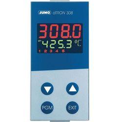 Kompaktowy regulator z funkcją programu JUMO dTRON Jumo 703043 110 - 240 V/AC Wyjścia Dwa przekaźniki (zestyk przełączny) o mocy przełączania: 3 A przy 230 V/AC obciążenia rezystancyjnego · Przekaźnik (zestyk zwierny) zasilania napięciem dla dwuprzewodowego przetwornika pomiarowego · Napięcie: Galwanicznie izolowane, nieregulowane, 30 V bez obciążenia, 23 V przy 30 mA · Opcja (tylko w wersji, gdy działa jako regulator ciągły): Wyjście analogowe 0–20 mA, 4–20 mA, 0–10 V Wymiary zabudowy 48 x 96 mm Głębokość montażowa 90 mm