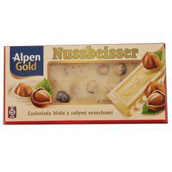 Czekolada Biała Alpen Gold Nussbeiser 100g